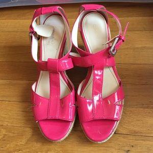 Calvin Klein pink wedges!!!
