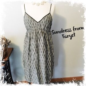 Sundress, black/white/gray