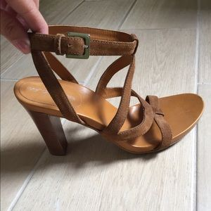 {Sergio Rossi} strapy suede leather sandals