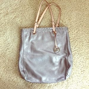 Michael Kors metallic tote bag