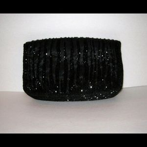 Beaded Black Clutch bag, Sasha New York homecoming