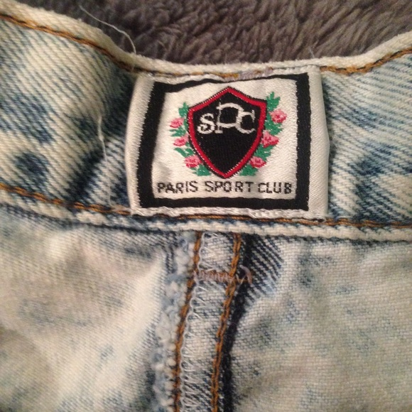 67 off paris sport club pants acid wash high waisted jean shorts from sophie 39 s closet on poshmark. Black Bedroom Furniture Sets. Home Design Ideas