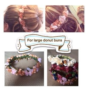 Floral crowns for hair