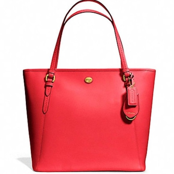 dbbe7fda3ad Coach Bags   Authentic Red Peyton Leather Large Tote   Poshmark