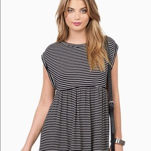Tobi Black and white striped babydoll dress!