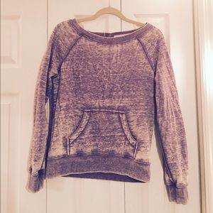 Forever 21 Tops - 💜💜Purple Distressed Crew💜💜