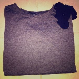Gray forever 21 3/4 sleeve top