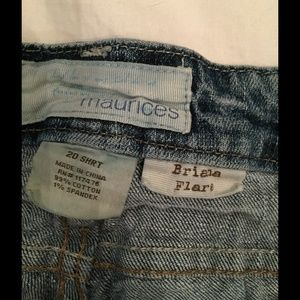 5e592aabdb Maurices Pants - Maurice's Brianna flare jeans - short length