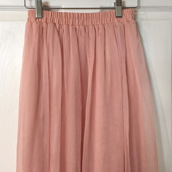 53 forever 21 dresses skirts dusty pink chiffon