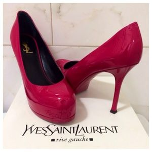 Saint Laurent Shoes - NEW! YSL Tribtoo Patent Leather Pink Pumps