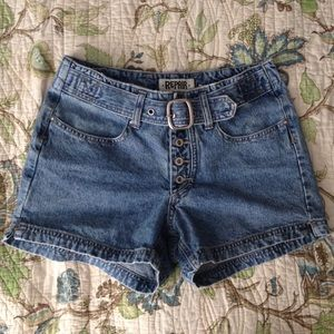 90s button fly high waisted denim shorts