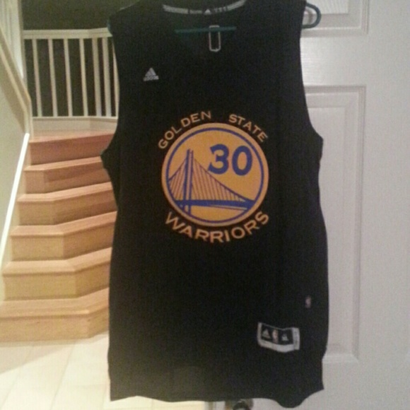 brand new 06159 cc7c8 Stephen Curry ADIDAS SWINGMAN JERSEY Black NWT