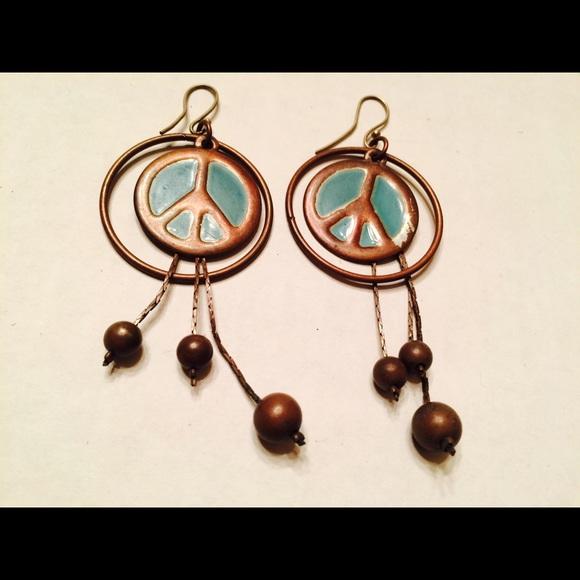 Download Jewelry | Vintage Peace Symbol Dangle Earrings | Poshmark