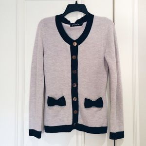 Private Gallery Sweaters - Classic Grey and Black Mod Cardigan