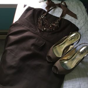 J.crew dress, chocolate brown. Size 12