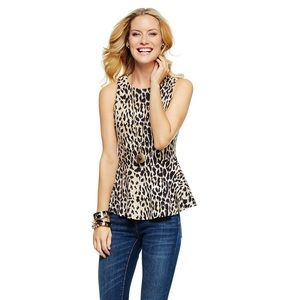 C. Wonder Tops - FINAL MARKDOWN: Leopard Print Peplum Top