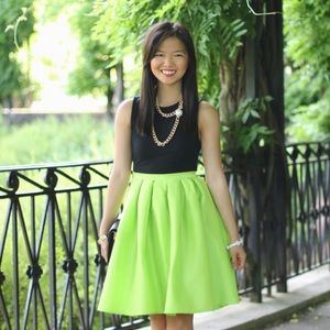 Skirts - FINAL MARKDOWN: Neon Green Flared Skirt