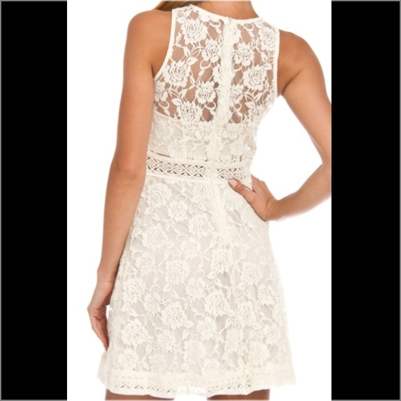 49% off Rebellion Dresses & Skirts - NWT Ivory Lace Summer Dress ...