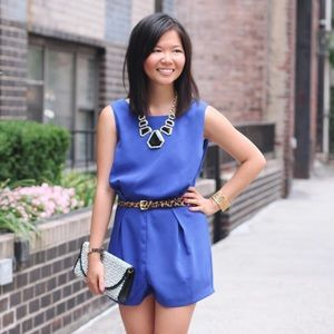 Dresses & Skirts - FINAL MARKDOWN: Blue Romper with Lace Back