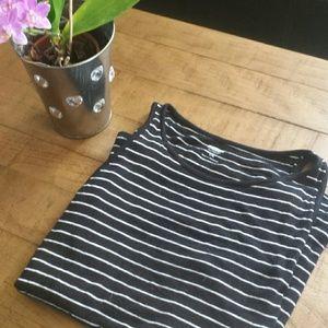 Black tank top with  white stripes!