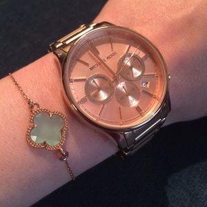 Dyadema Jewelry Rose Gold Aqua Chalcedony Clover Bracelet Poshmark