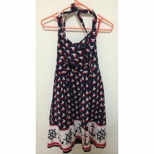 Anthropologie Windward halter dress