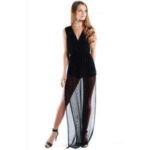 """Parting Gift"" Mesh Maxi Romper"