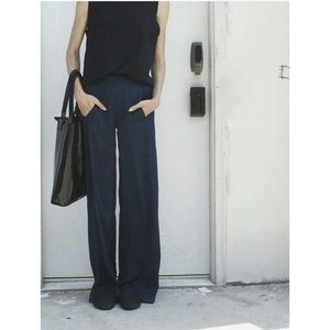 fresh laundry black linen pants