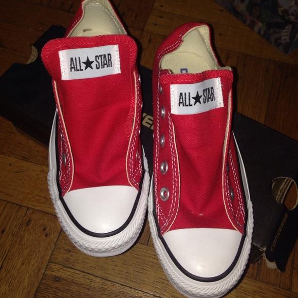 Converse Shoes   Red Converses No Shoe