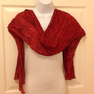 Accessories - 🎀 Rust colored scarf with paisley design