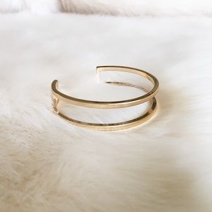 Jewelry - Gold Double Bar Bangle
