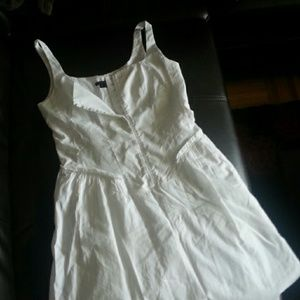 THEORY White Linen Strappy Dress