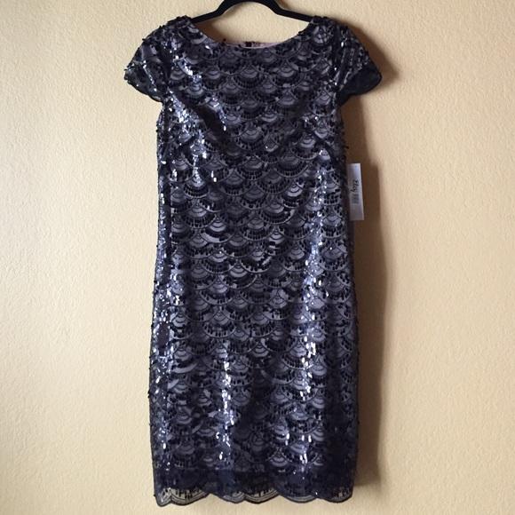 Eliza J Dresses Black Sequin Dress Size 6 Nwt Poshmark