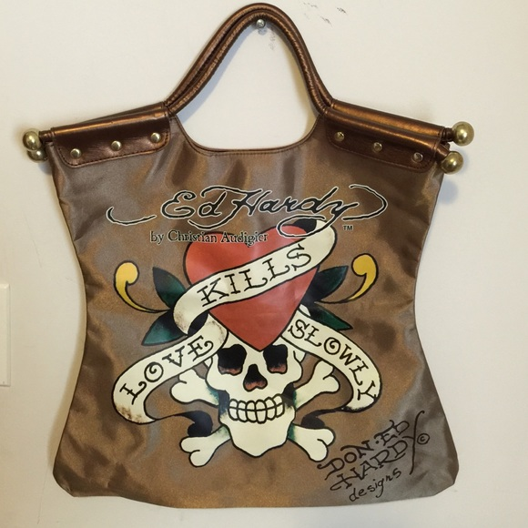 Ed Hardy Handbags - Ed Hardy large bag 788b6be14b0a8