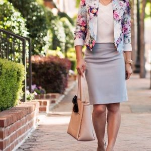 Jcrew grey pencil skirt