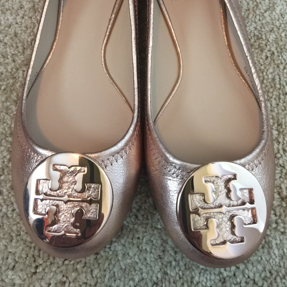 c1aba5fa8 Limited Edition Rose Gold Reva Ballet Flats. NWT. Tory Burch