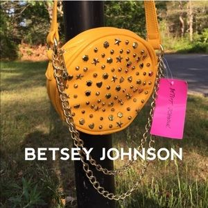 BETSEY JOHNSON NWT studded crossbody bag