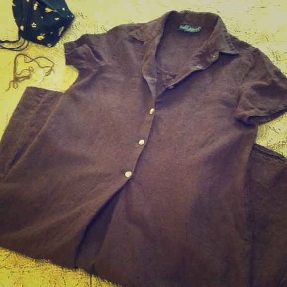 ae00337424ff Harve Benard Dresses   Skirts - Vintage linen shirt dress