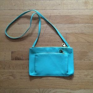 H&M Handbags - H&M teal cross body purse