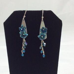 Jewelry - 🎀Host Pick!!!🎀 Flirty Blue Dangly Earrings!
