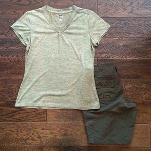 Heathered Green Activewear Top Y6