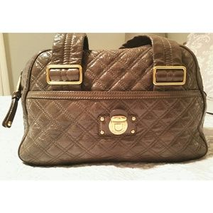 Marc Jacobs quilted patent Ursula bowler