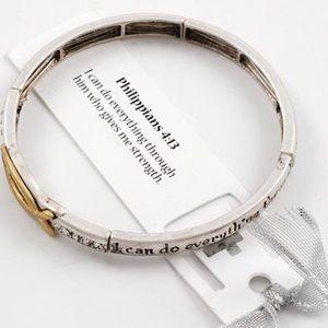 Philippians 4:13 stretch bracelet