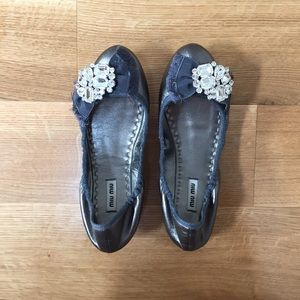 Miu Miu Shoes - Miu miu jeweled ballet flats