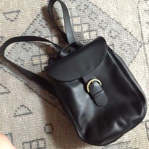 Coach Handbags - Vintage coach black leather backpack