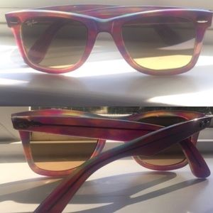 Ray-Ban Accessories - Authentic Purple Rainbow Ray Bans! RARE