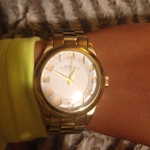 Gold Marc Jacobs watch.