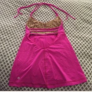 Hot pink lululemon top