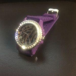 Jewelry - Watch - Purple w/brown zebra print