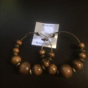 Jewelry - Hoop Earrings - Brown